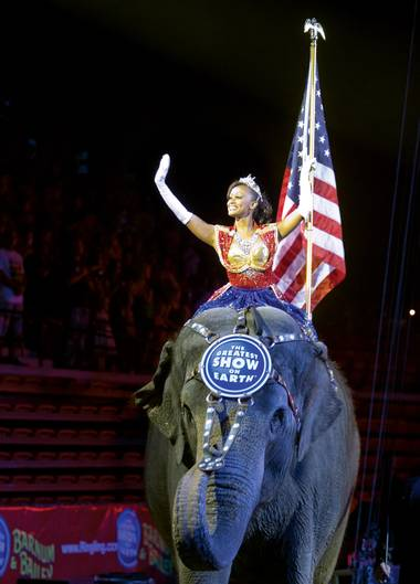 The Ringling Bros. and Barnum & Bailey Circus visited the Thomas & Mack Center on June 14.