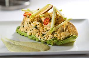 Surf for your turf: Edge's crab and avocado salad.