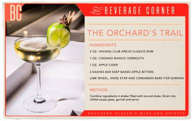 Mastering the art of balance, this cocktail is fresh and crisp while simultaneously rich and warm.