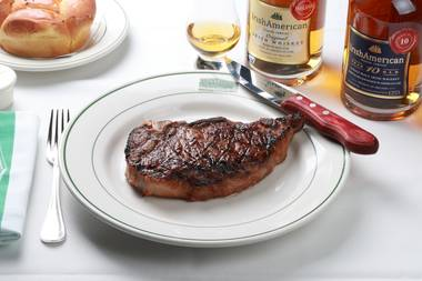 Imagine a USDA Prime Kansas City bone-in sirloin dry-aged in IrishAmerican Whiskey for 30 days … then go eat it.