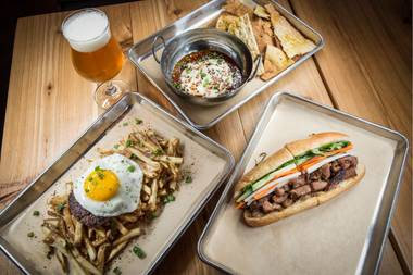 595 features hearty plates and a terrific beer selection.