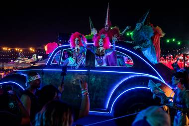 MsEasy advises partiers visit the revamped Downtown EDC to see the fest's new concepts, like a drag bar with live drag queen performances. She also says she's excited to bring back an open-air theater with fire performers, which hasn't been seen  at EDC Vegas since 2015.