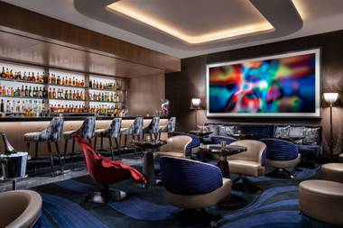 Francesco Lafranconi's European-inspired cocktail bar at the Palms befits his legend,