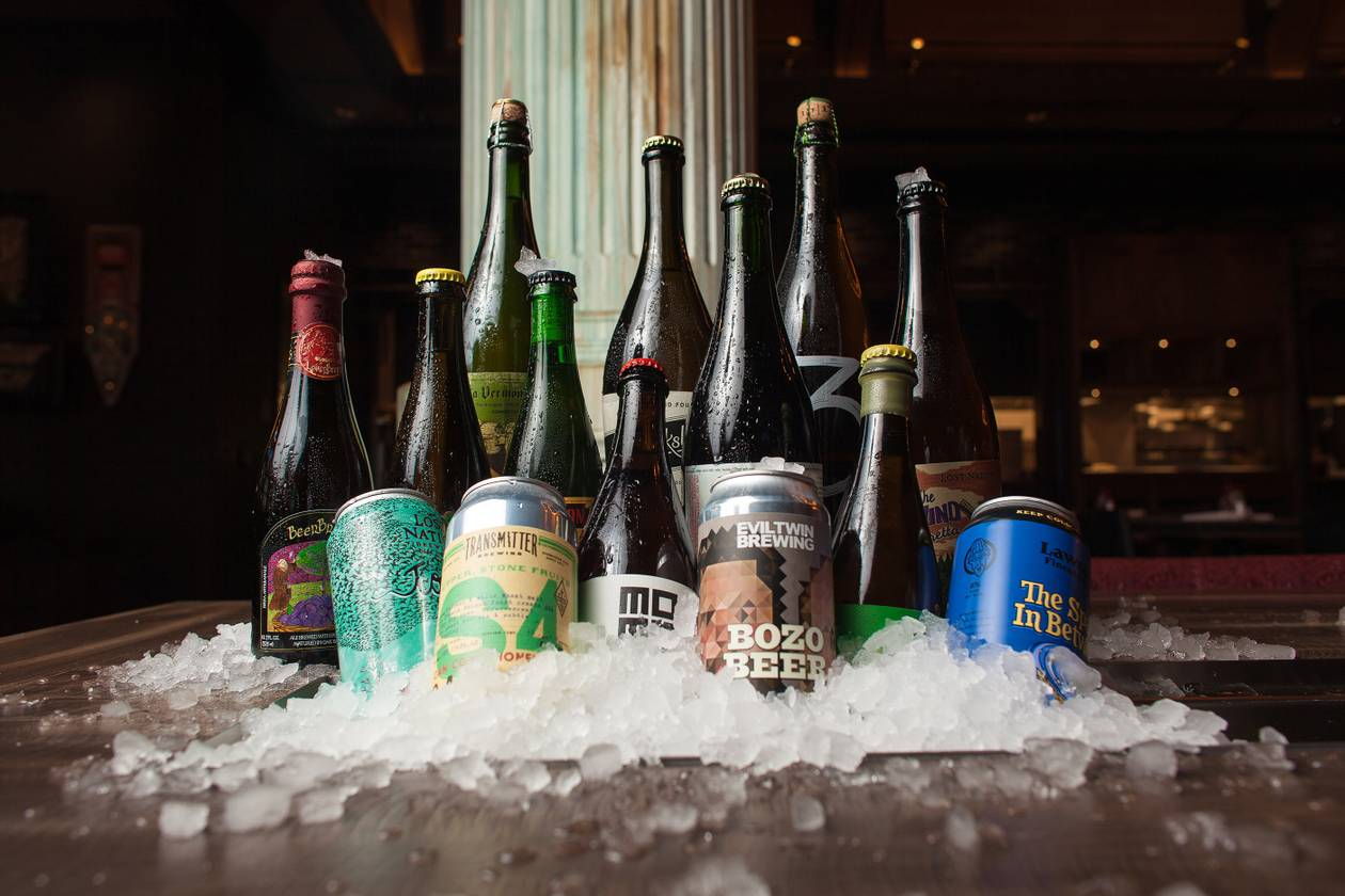 Where else do stateside pours play alongside overseas offerings Belgium and the Netherlands?