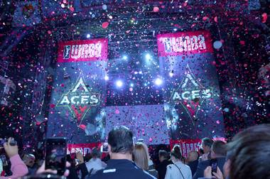 The Aces' logo is sleek, bold and instantly identified with Las Vegas.