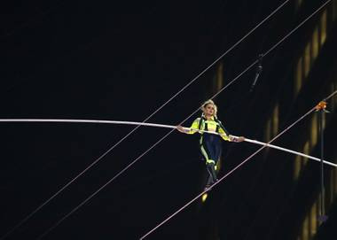 This fearless funambulist recently made headlines for her high-wire walk above Times Square.