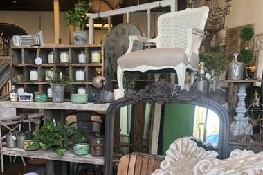 "With locations in Las Vegas, Henderson and Boulder City, this ""vintage-inspired home decor & gift boutique"" has your decorating needs covered."