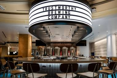 Trustworthy's mainline beers, including the easy drinking Gigil rice pilsner and the more robust Brass Jar hoppy amber ale, have been available in the Valley for the past year. But more specialty brews are available at the new operation on the Strip resort's second floor.
