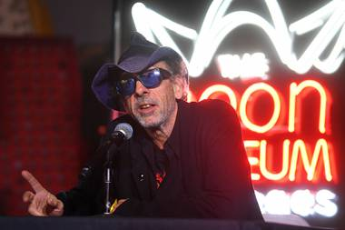 The filmmaker will return to the Neon Museum on January 21 to sign copies of his work.