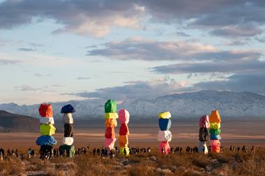 Is it a Vegas metaphor, or simply a fabulous piece of land art? Either way, we love it.
